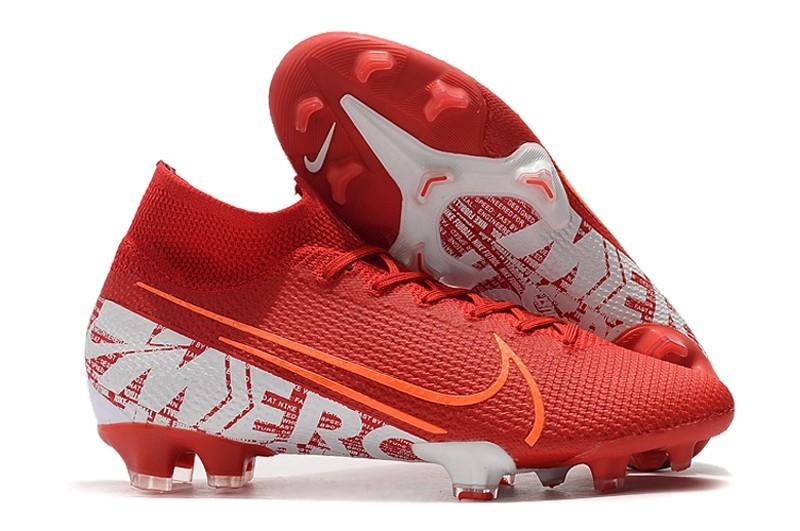 Cyclone Nike Mercurial Superfly 7 Elite FG-White Orange Red