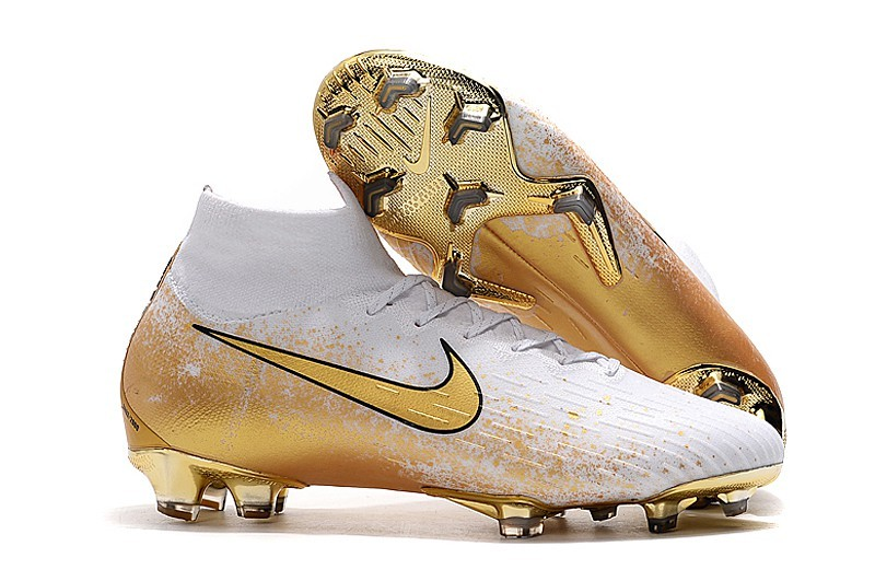 Nike Mercurial Superfly 6 FG Euphoria Mode - White Champagne Gold Black Sell