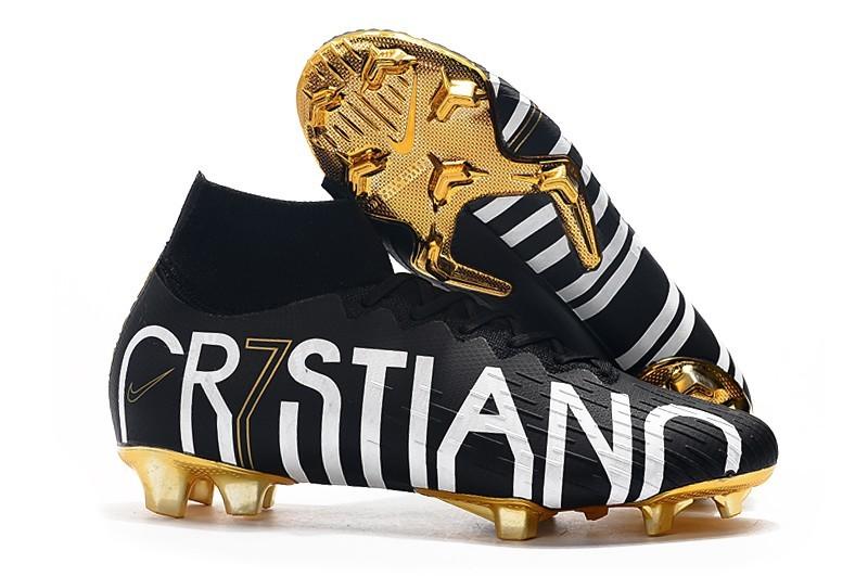 Nike Mercurial Superfly Vi Elite CR7 Cr7stiano Ronaldo FG - Black White Gold Sell