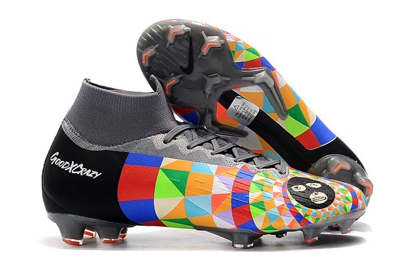 Outside Nike Mercurial Superfly 6VI 360 Elite FG Dani Alves - Black Colorful Grey