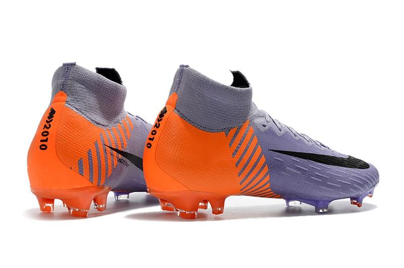 2018 Nike Mercurial Superfly VI 6 Heritage 2010 FG - Orange Purple Heel