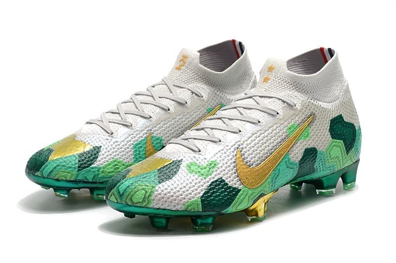 Heel Nike Mercurial Superfly VII Elite FG Mbappe x Bondy Dreams - Grey Gold Green