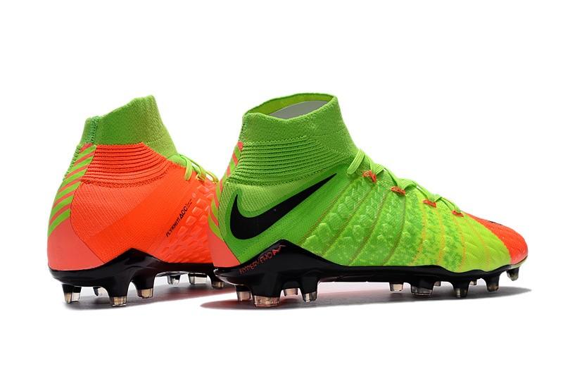 Nike Hypervenom Phantom III DF FG - Hyper Orange Electric Green Black Right