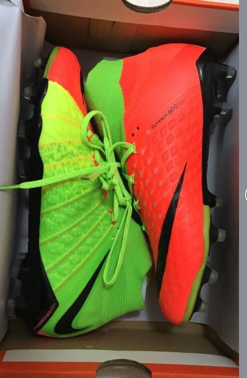 Nike Hypervenom Phantom III DF FG - Hyper Orange Electric Green Black Show