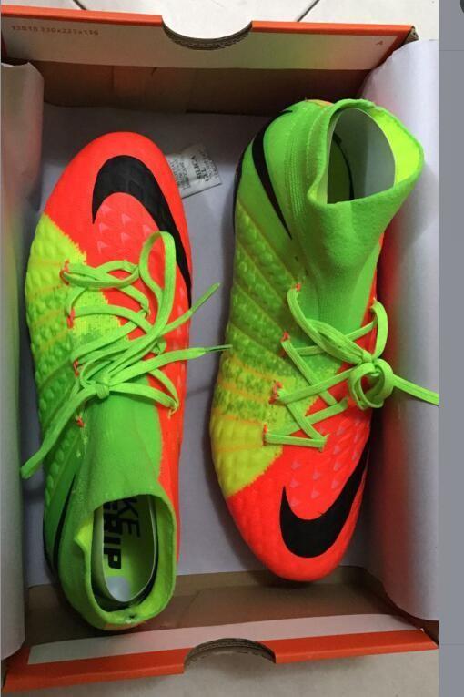 Nike Hypervenom Phantom III DF FG - Hyper Orange Electric Green Black box