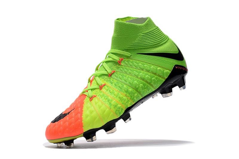 Nike Hypervenom Phantom III DF FG - Hyper Orange Electric Green Black shoes