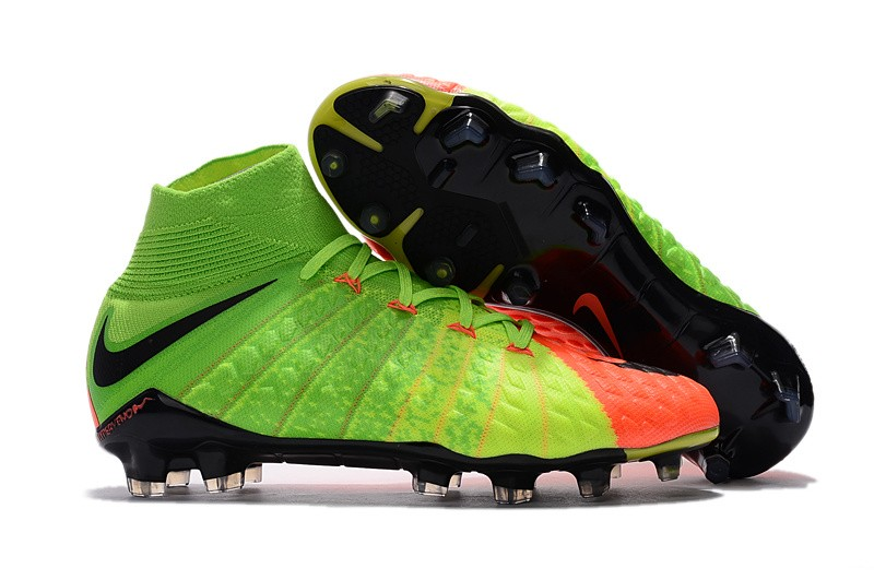 Nike Hypervenom Phantom III DF FG - Hyper Orange Electric Green Black side