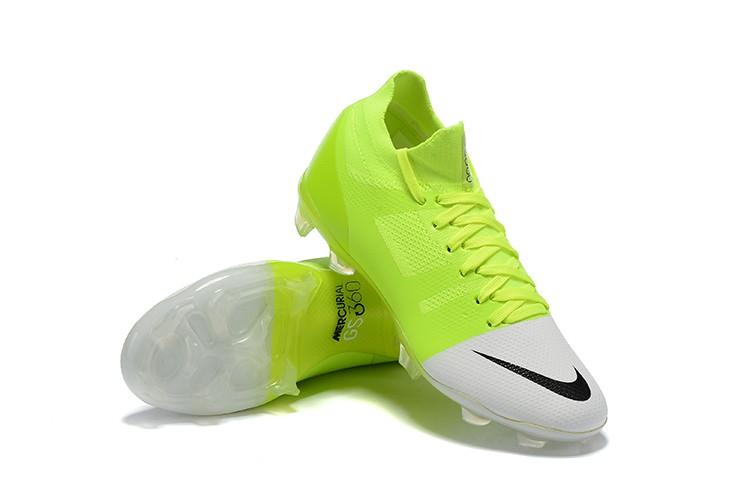 Nike Mercurial Greenspeed 360 FG- White Solar Green Football