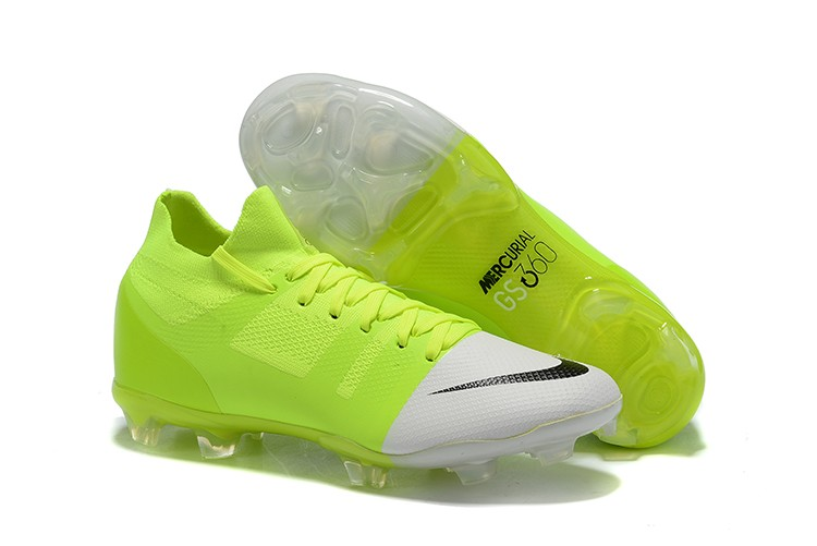 Nike Mercurial Greenspeed 360 FG- White Solar Green shoes