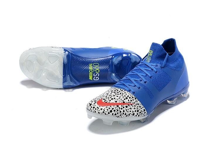 Nike Mercurial Greenspeed 360 FG - WhiteRacer Blue panel