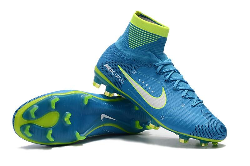 Nike Mercurial SuperFly V 5 FG Neymar NJR - White Blue Volt Right