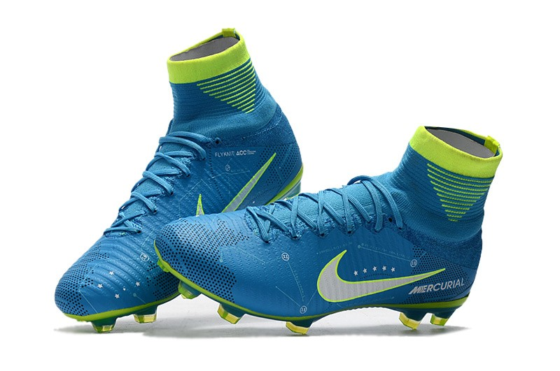 Nike Mercurial SuperFly V 5 FG Neymar NJR - White Blue Volt Sell