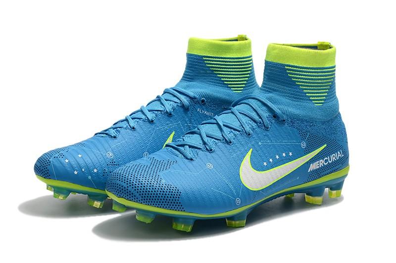 Nike Mercurial SuperFly V 5 FG Neymar NJR - White Blue Volt panel