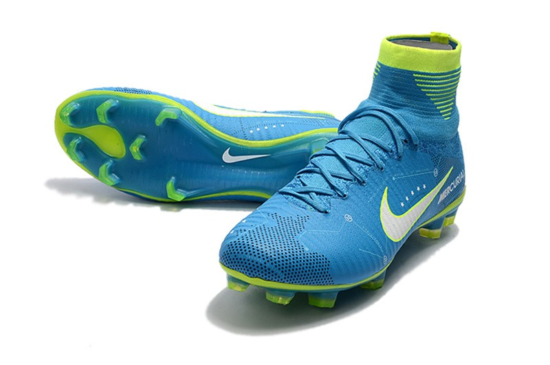 Nike Mercurial SuperFly V 5 FG Neymar NJR - White Blue Volt side