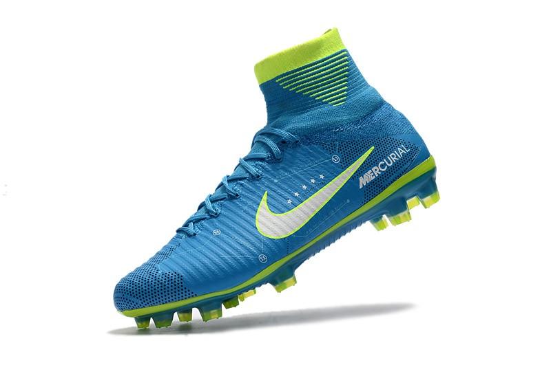 Nike Mercurial SuperFly V 5 FG Neymar NJR - White Blue Volt whirlwind