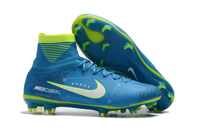 Nike Mercurial SuperFly V FG Neymar NJR - White Blue Volt Right