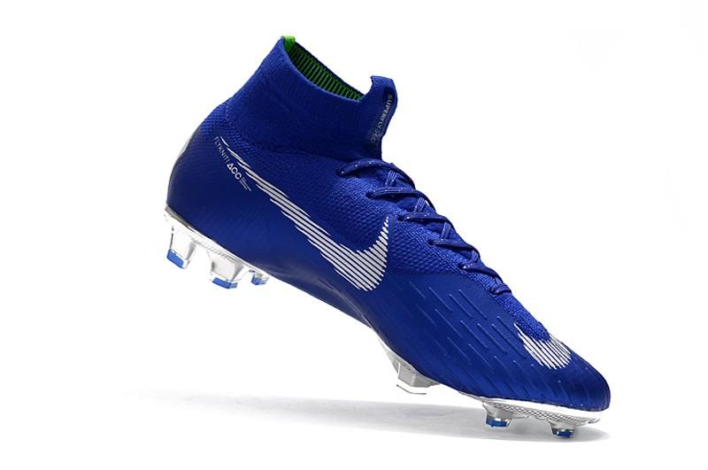 Nike Mercurial Superfly VI 6 Elite FG-Silver Blue Inside