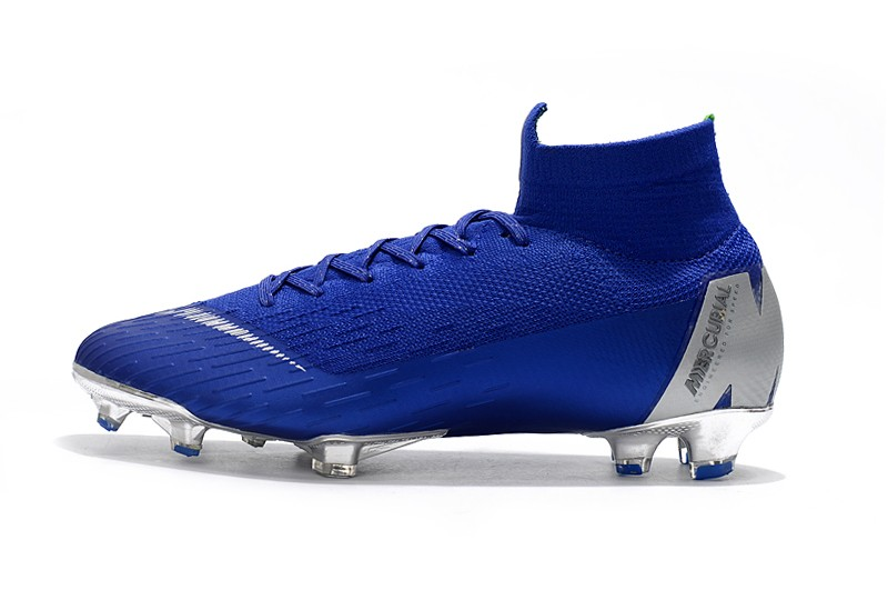 Nike Mercurial Superfly VI 6 Elite FG-Silver Blue Left