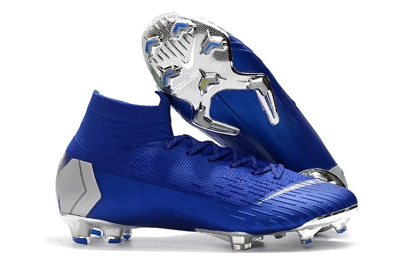 Nike Mercurial Superfly VI 6 Elite FG-Silver Blue Right