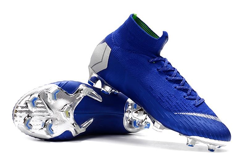 Nike Mercurial Superfly VI 6 Elite FG-Silver Blue Sale