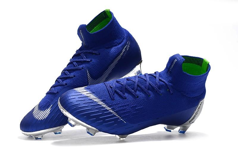 Nike Mercurial Superfly VI 6 Elite FG-Silver Blue Shop