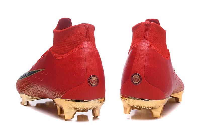Nike Mercurial Superfly VI Elite CR7 FG- Black Red Heel