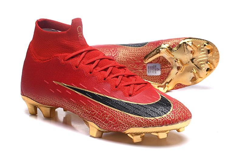 Nike Mercurial Superfly VI Elite CR7 FG- Black Red Soccer cleats