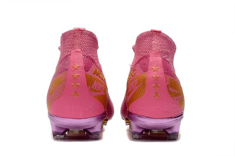 Nike Mercurial Superfly VII Elite FG Ballon d'Or Sell Retail - Pink Purple Gold Heel