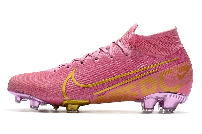 Nike Mercurial Superfly VII Elite FG Ballon d'Or Sell Retail - Pink Purple Gold whirlwind