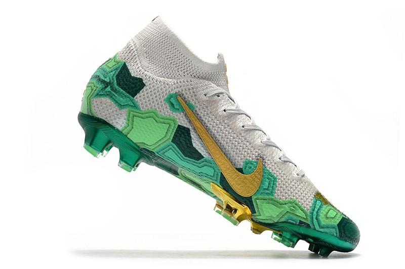 Nike Mercurial Superfly VII Elite FG Mbappe x Bondy Dreams - Grey Gold Green Shop