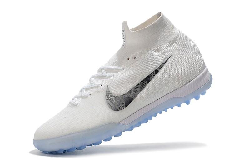 Nike Mercurial SuperflyX VI 6 Elite TF-White Metallic Cool Grey Left