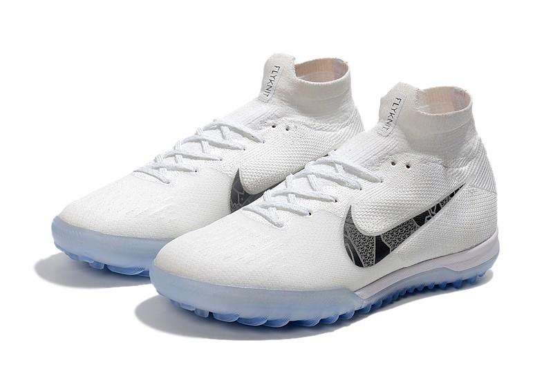 Nike Mercurial SuperflyX VI 6 Elite TF-White Metallic Cool Grey panel