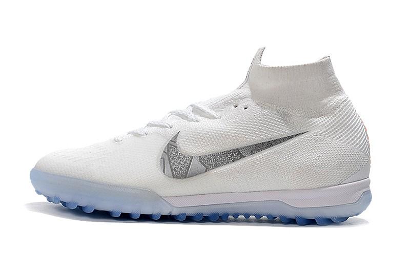 Nike Mercurial SuperflyX VI 6 Elite TF-White Metallic Cool Grey side