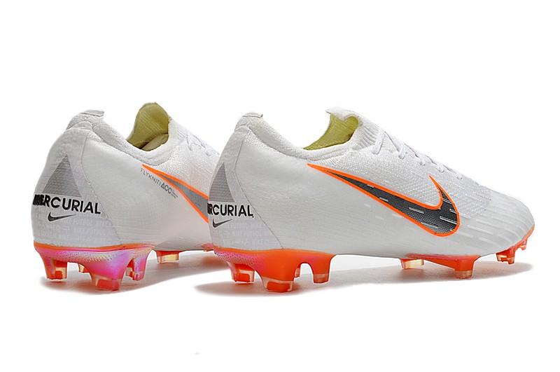 Nike Mercurial Vapor XII 7 Elite FG-White Total Orange Heel