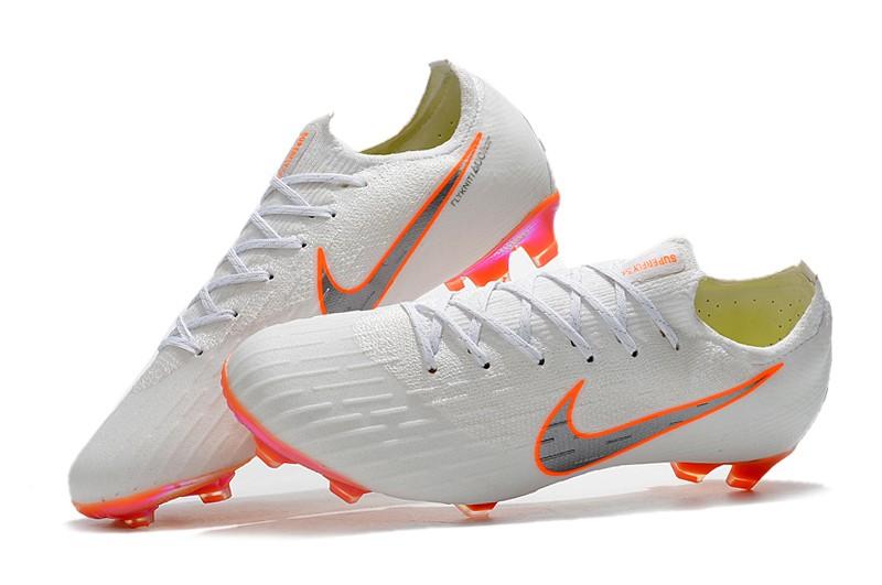 Nike Mercurial Vapor XII 7 Elite FG-White Total Orange shoes