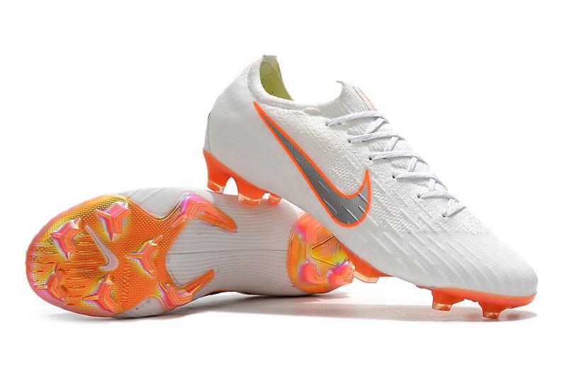 Nike Mercurial Vapor XII 7 Elite FG-White Total Orange