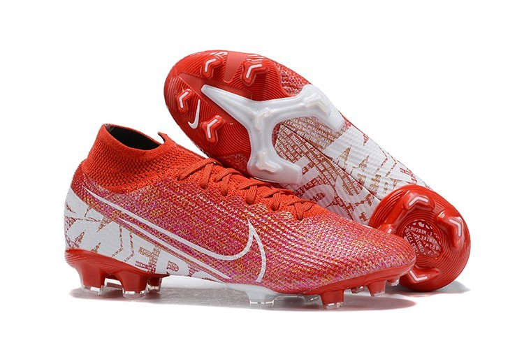 Right Nike Mercurial Superfly VII Elite FG Nike By You - Red White side