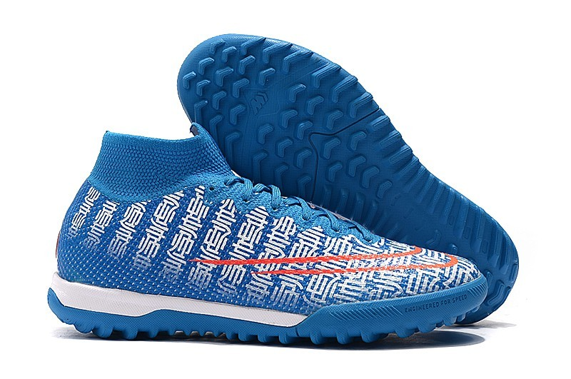Nike Mercurial Superfly VII 7 Elite TF CR7 Cristiano Ronaldo Handsome-Blue White Red side