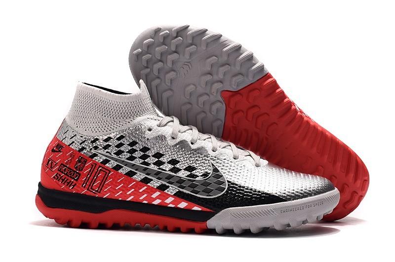 Nike Mercurial Superfly VII 7 Neymar Elite TF - White Red Black whirlwind