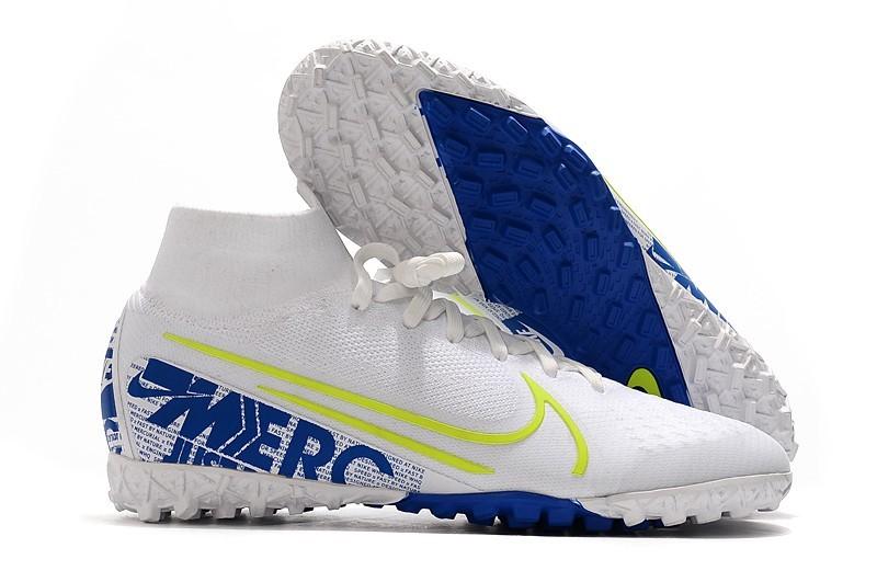 Nike Mercurial SuperflyX 7 Elite TF - White Blue Volt