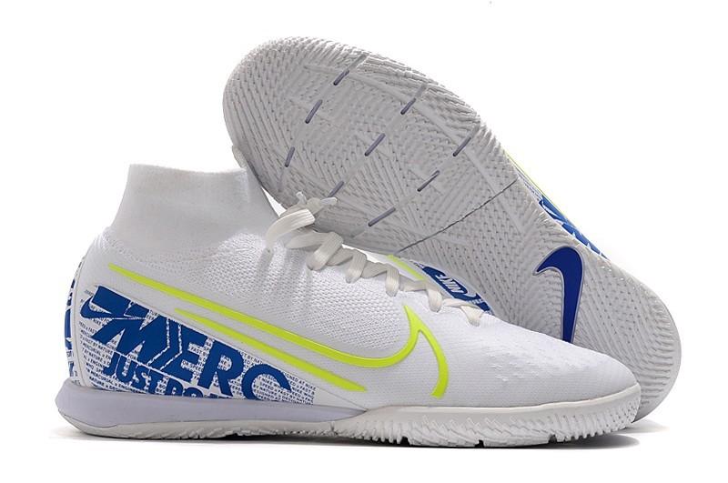 Nike Mercurial SuperflyX VII Elite IC - White Blue Volt