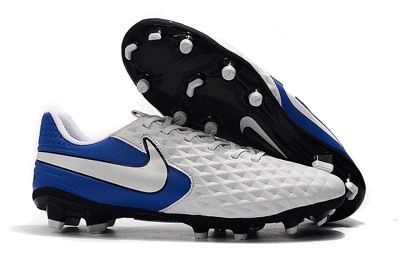 Nike Tiempo Legend VIII 8 DF FG - White Blue Right