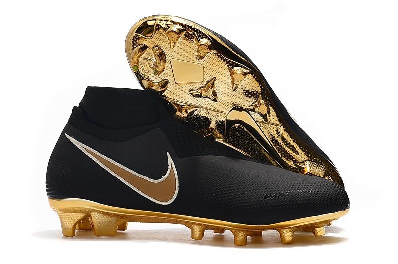 Shop For Nike Phantom VSN Elite DF FG Football Boots - Core Black Gold Right