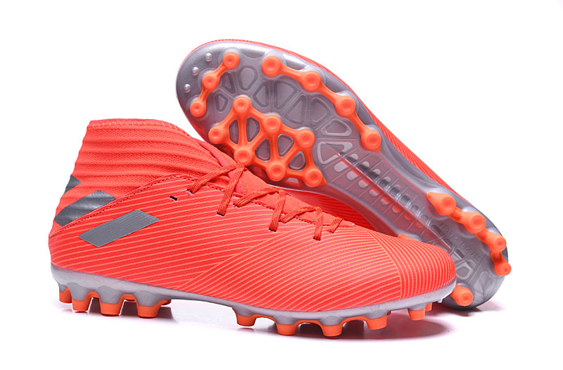 Botas de fútbol Adidas Nemeziz 19.3 AG-Rojo Rojo Sol Right