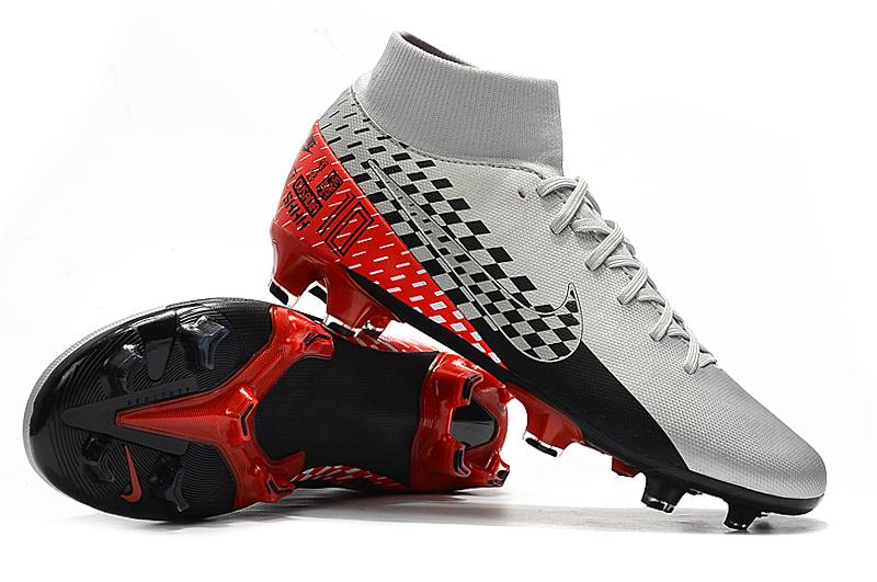 Nike Mercurial 7 Elite FG-Plata Gris Rojo Negro Shop