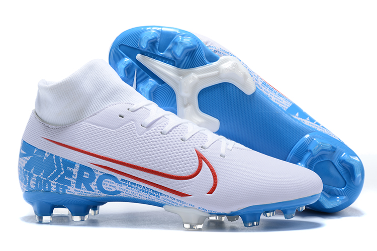 Nike Mercurial Superfly VII Club FG-White Blue Right
