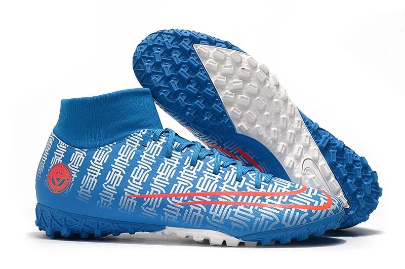 Nike Mercurial SuperflyX VII 7 Academy TF CR7-Blue White Orange Right