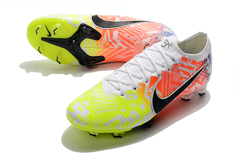 Nike Mercurial Vapor 13 Elite FG-Yellow Powder White Upper