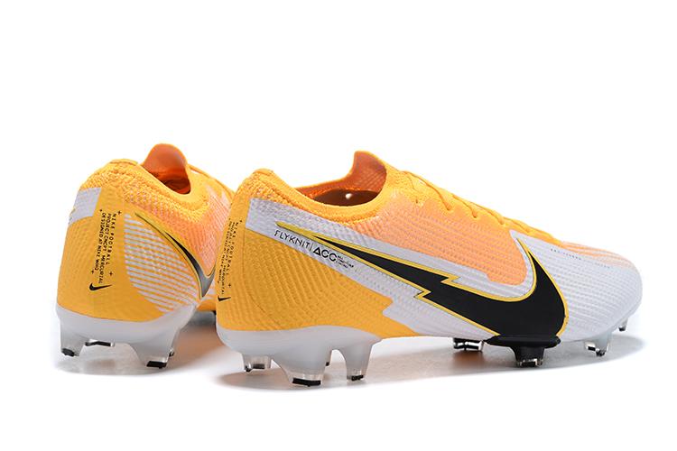 Nike Mercurial Vapor VII 13 Elite FG-yellow white black Heel