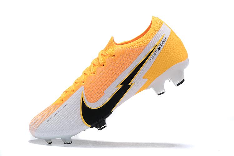 Nike Mercurial Vapor VII 13 Elite FG-yellow white black Left
